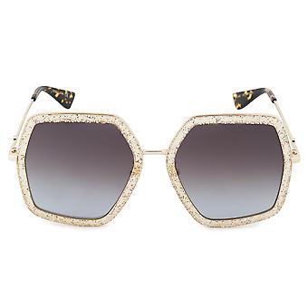 Gucci GG0106S 005 56 Geometric Sunglasses