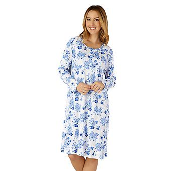 Slenderella ND4201 Women's Woven Floral Cotton Nightdress