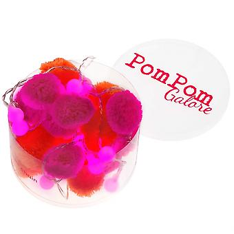 PomPom Galore Pom Pom Orange & Pink Fairy LED String Lights