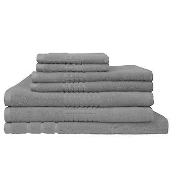 Montage Towel 7 Piece Bath Linen Set - Silver