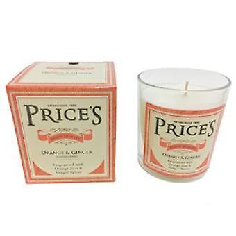 Orange og Ginger Candle i glass jar av priser
