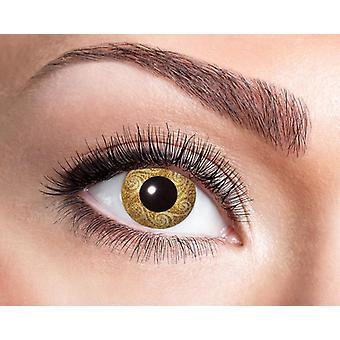 Gouden contactlenzen Golden swirls