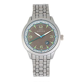 Elevon Atlântico pulseira relógio w/Date-prata/cinza