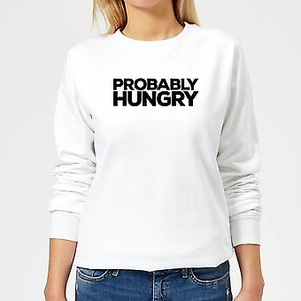 Probably Hungry Women's Sweatshirt - White