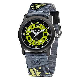 JACQUES FAREL Youth Watch Wristwatch Analog Quartz Boys Textile STB 2222 Graffiti