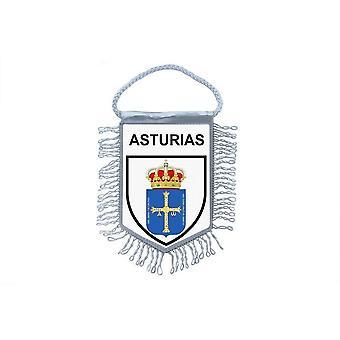 Flag Mini Flag Country Country Car Remembrance Blason Spain Asturias Asturias