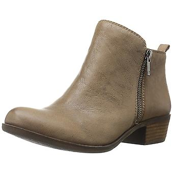 Lucky Brand Womens Basel Leather Closed Toe Ankle Fashion Boots
