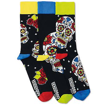 United Oddsocks 3 Men's Wesley Day Of The Dead Socks