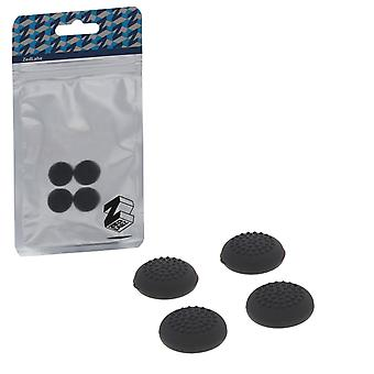 Dotted silicone thumb grip stick caps for nintendo switch joy-con controllers - 4 pack black