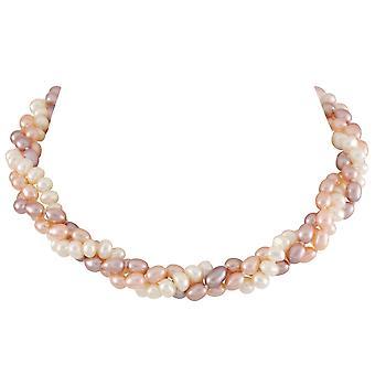 Éternelle Collection envoûtante tordu collier de perles Pastel
