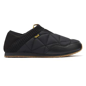 Teva Ember Moc Mens Black Slippers