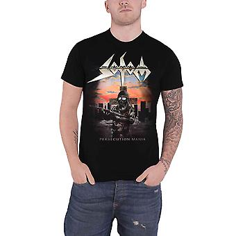 Sodom T Shirt Persecution Mania Album Cover Band Logo nouveau officiel Mens Black