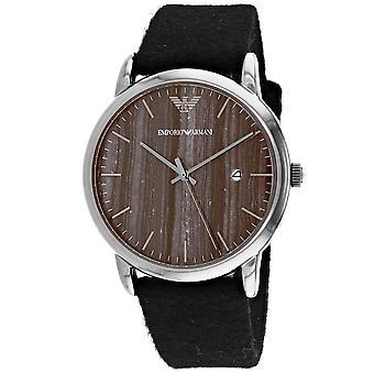 Armani Men-apos;s Luigi Brown Dial Watch - AR11156