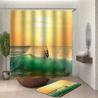 Sonnenuntergang Surf Shower Vorhang
