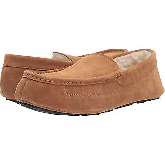 Amazon Essentials mannen ' s lederen Moccasin slipper, kastanje, 11 M ons