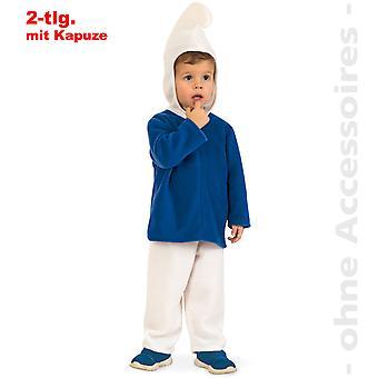Blå GNOME kostume børn kostume dværg Smurf barn kostume