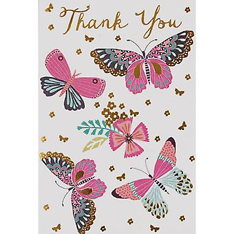 SE Open Butterfly Thank You Individually Wrapped Cards (Pack of 24)