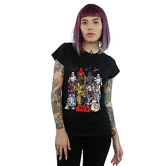 Star Wars Women's The Rise Of Skywalker Character Collage T-Shirt
