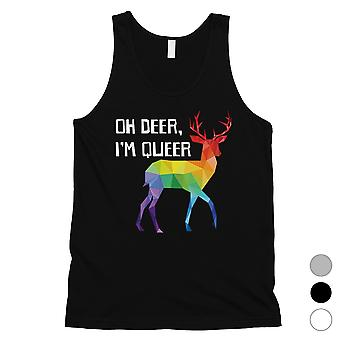 LGBT Cervos Queer Rainbow Mens Tank Top Valentines Gift