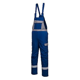 Portwest Mens Bizflame Ultra Două tonuri rezistente la flacără îmbrăcăminte de lucru Bib și Brace Dungarees