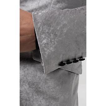 Dobell Mens سترة البدلة الرسمية الفضة العادية صالح سحق المخملية
