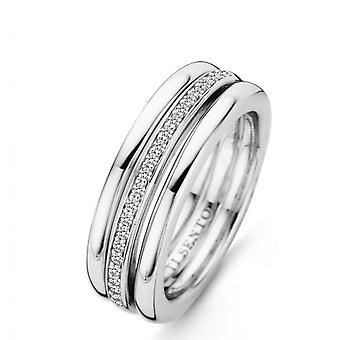 Ring Ti Sento 12146ZI - ring sølv ring Pav inset 2 ringe