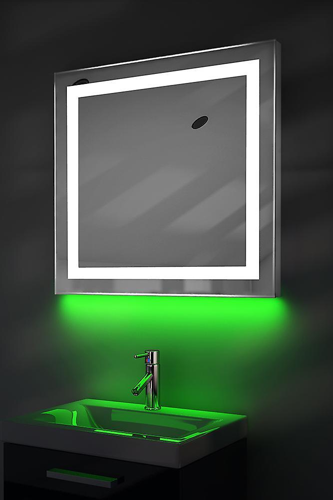 Auto couleur changement RGB LED miroir avec désembuage & K176irgb capteur