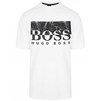 Hugo Boss Trek 4 Algodón Regular Fit Camiseta blanca