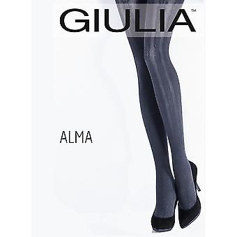 Giulia Alma Floral Stripe Patterned Tights - Hosiery Outlet