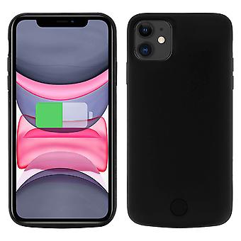 2 in 1 Rigid Case with Built-in 6000mAh Battery for iPhone 11, Black