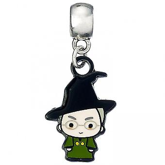 Harry Potter Silver Plated Charm Chibi Professor McGonagall