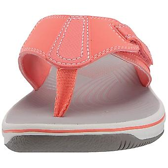 CLARKS Women's Brinkley Sail Flip-Flop, Coral Synthetic, 50 M EUA