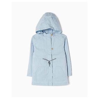 Zippy Pale Blue Parka With Hood