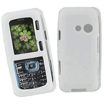 Silicone Skin Case for LG Rumor2 LX265 - White