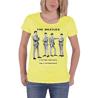 I Beatles You Cant Fare che le donne ufficiali nuovo giallo skinny fit T Shirt