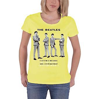 The Beatles você cant fazer isso oficial das mulheres novo amarelo Skinny Fit T-shirt