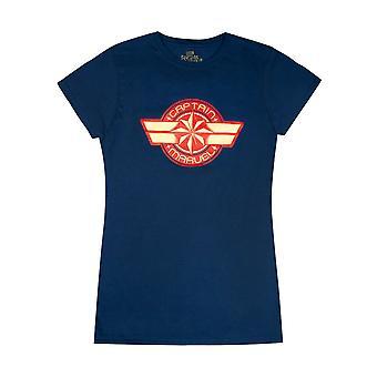 Marvel Capitán Marvel Logo Mujeres's Camiseta de manga corta en azul marino