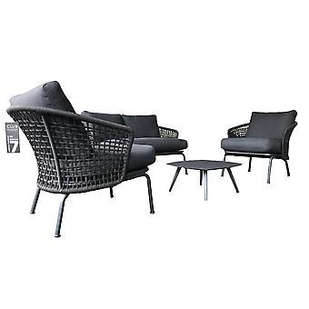 Beach7 | Lattice 5-delig lounge set dark grey  | loungesets
