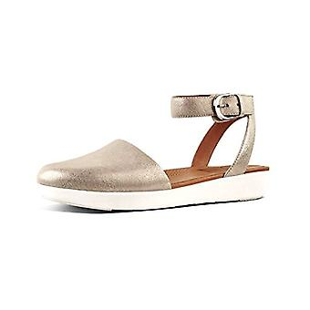 FitFlop Womens Cova Leather Closed Toe Casual Slingback Sandals