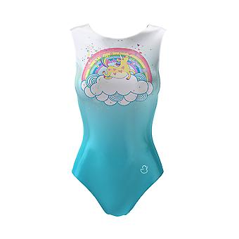 Unicorn Rainbow Leotard And a Short, Girls Gymnastics Bodysuit Ballet Outfit Dance Costume 3-16Y