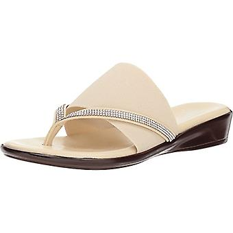 ITALIAN Shoemakers Womens Luxi Fabric Split Toe Casual Slide Sandals