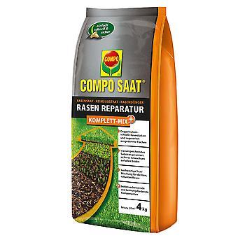 COMPO SAAT® Reparación completa del césped Mezcla completa+, 4 kg