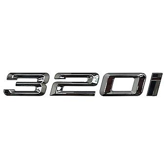 Silver Chrome BMW 320i Car Model Rear Boot Number Letter Sticker Decal Badge Emblem For 3 Series E36 E46 E90 E91 E92 E93 F30 F31 F34 G20
