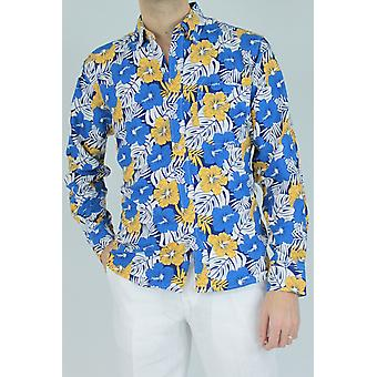 Straight cut floral shirt