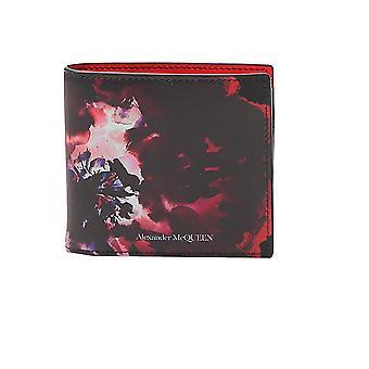 Alexander Mcqueen 6021371sk0b1092 Hombres's Cartera de cuero negro/rojo
