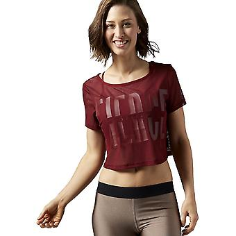リーボック カーディオ メッシュ ティー AY0879 ユニバーサル 夏 女性 T シャツ