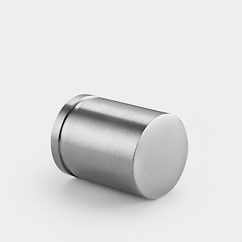 Brass Cylinder Pull - Silver