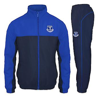 Everton FC Official Football Gift Boys Jacket & Pants Tracksuit Set