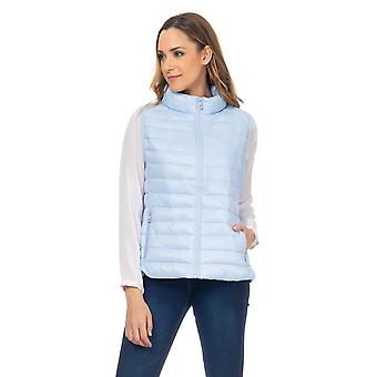 Padded short vest with pockets