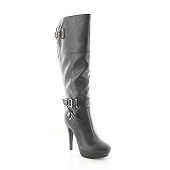 Guess Womens Destynn Fabric Pointed Toe Knee High Fashion Boots